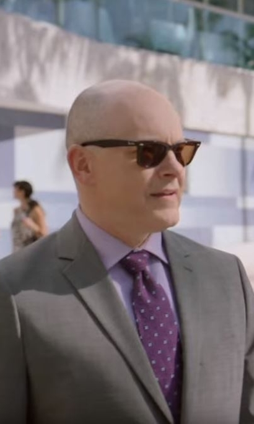 Rob Corddry with Paul Smith Bayard Sharkskin Wool Suit in Ballers