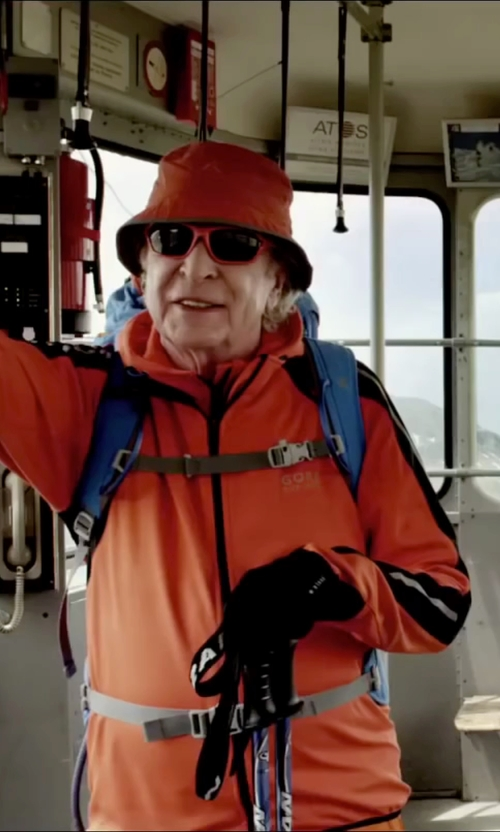 Michael Caine with Kokatat Gore-Tex Nor'wester Hat in Youth