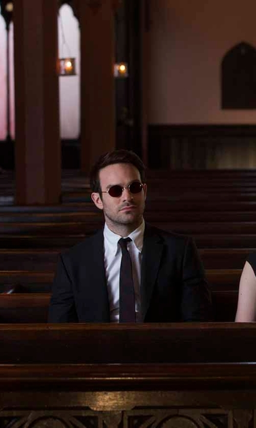 Charlie Cox with Paul Smith London Byard Wool & Mohair-Blend Travel Suit in Daredevil
