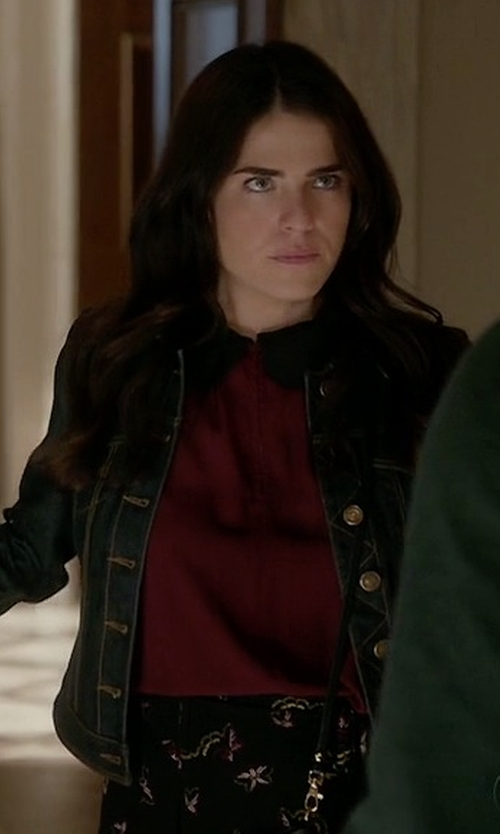 Karla Souza with ModCloth Evening At The Easel Top in How To Get Away With Murder