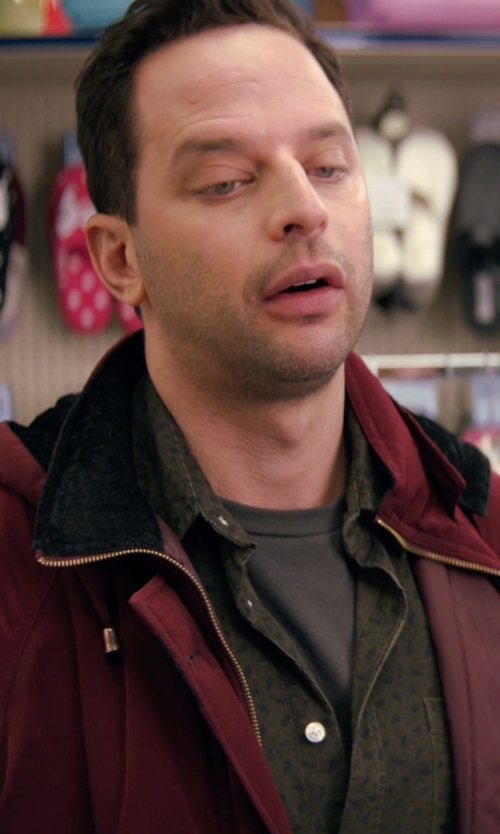 Nick Kroll with Barbour Gone Hunting Shirt in Adult Beginners