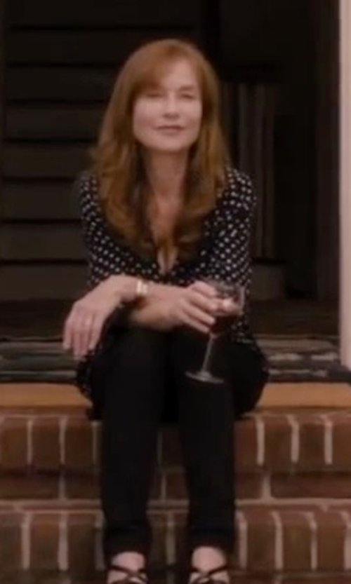 Isabelle Huppert with NYDJ Kiara Moto Leggings Pants in The Disappearance of Eleanor Rigby