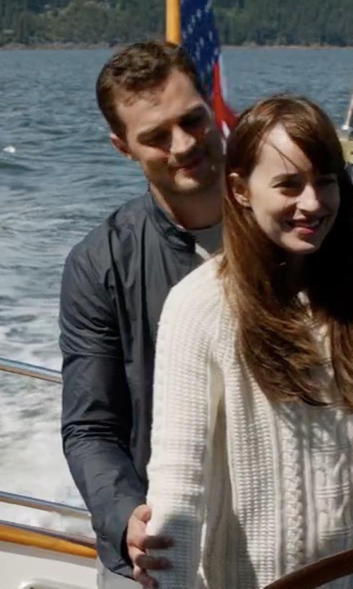 Jamie Dornan with Moncler Full-Zip Track Jacket in Fifty Shades Darker