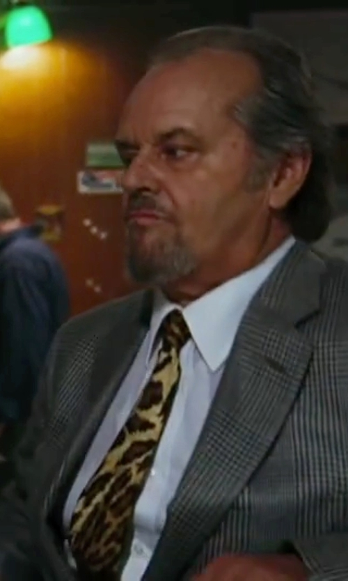 Jack Nicholson with Isaia Plaid Wool Suit in The Departed