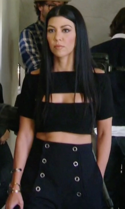 Kourtney Kardashian with Derek Lam 10 Crosby Crepe Sailor Pants in Keeping Up With The Kardashians