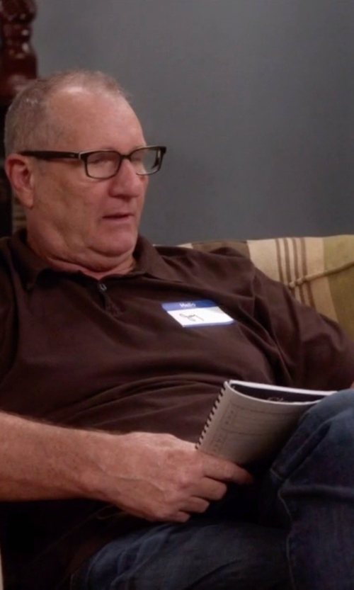 Ed O'Neill with M.Grifoni Denim Straight Leg Denim Pants in Modern Family