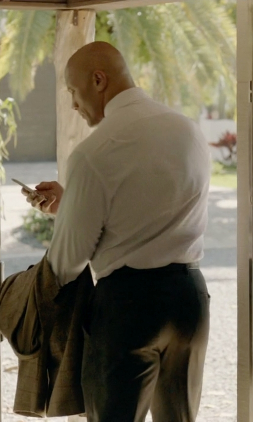 Dwayne Johnson with Ralph Lauren Straight-Fit Tricotine Trousers in Ballers