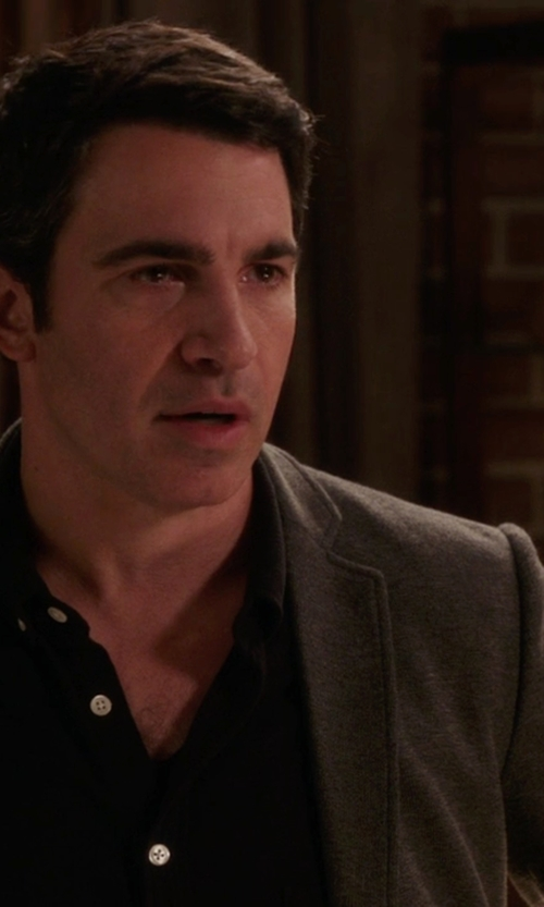 Chris Messina with Lauren Ralph Lauren Cashmere-Blend Herringbone Sport Coat in The Mindy Project