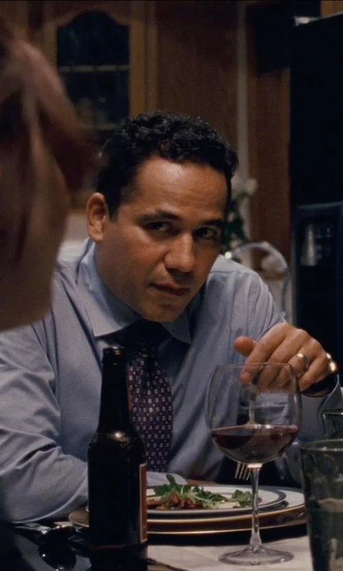 John Ortiz with Eton of Sweden Polka Dot Silk Tie in Silver Linings Playbook