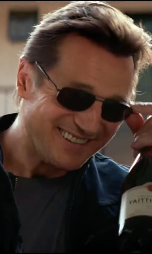 Liam Neeson with Taittinger NV La Francaise Brut Champagne Blend in Taken 3