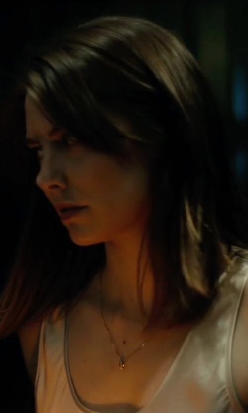 Lauren Cohan with Peserico Silk Contrast Tank Top in The Boy
