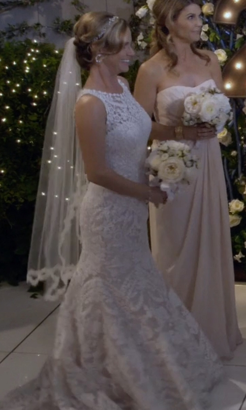 Andrea Barber with Eddy K Adalynn Bridal Lace Gown in Fuller House