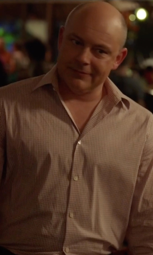Rob Corddry with Theory Micro Checked Shirt in Ballers