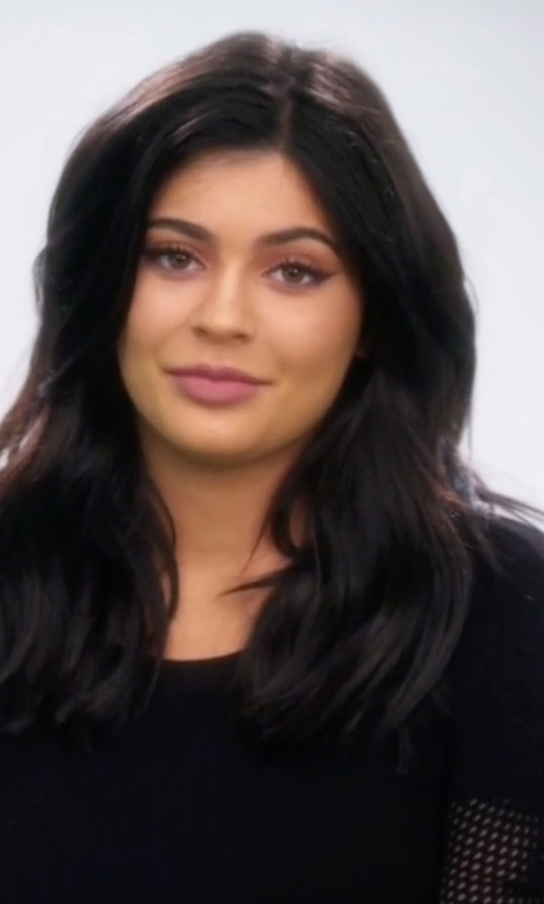 Kylie Jenner with Akris Punto Silk-Front Trapeze Top in Keeping Up With The Kardashians