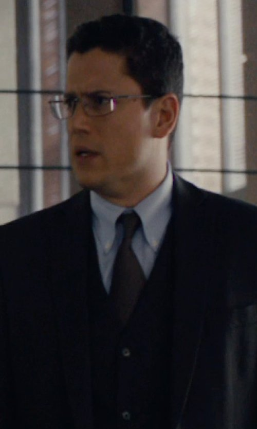 Wentworth Miller with Brioni End-On-End Dress Shirt in The Loft