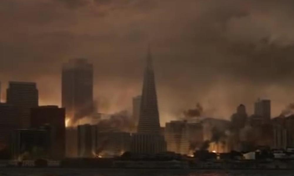 Transamerica Pyramid San Francisco, California in Godzilla