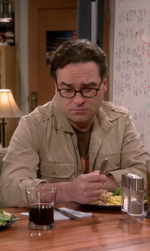 Johnny Galecki with Hamaki-Ho Military Shirt in The Big Bang Theory