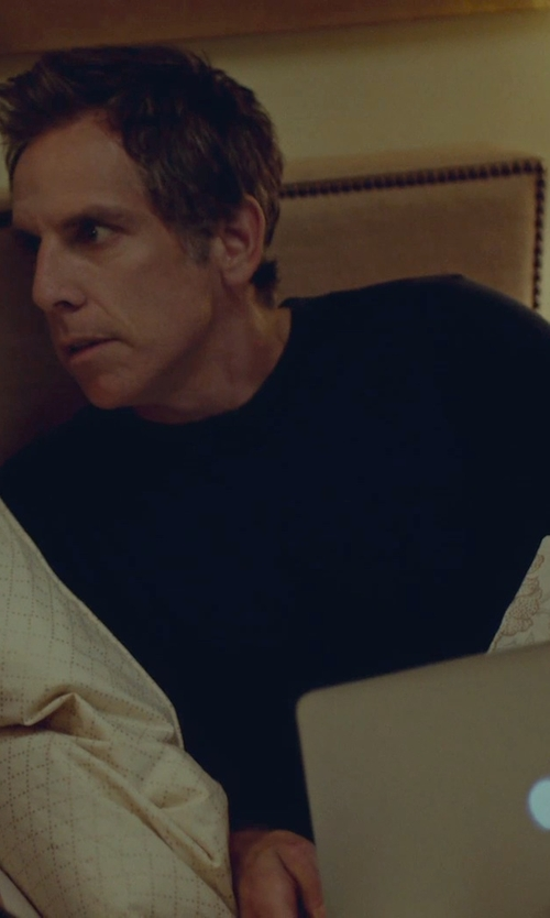Ben Stiller with BLK DNM Classic Crew Neck T-Shirt in While We're Young
