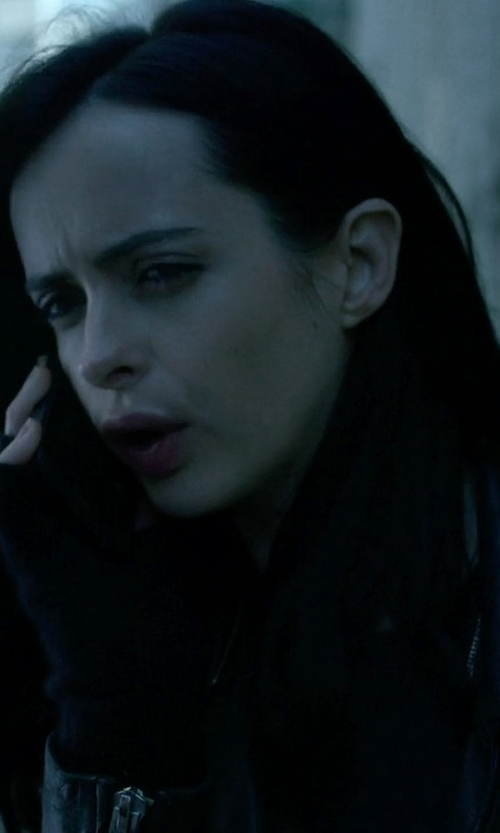 Krysten Ritter with Hot Topic Black Knit Fingerless Gloves in Jessica Jones
