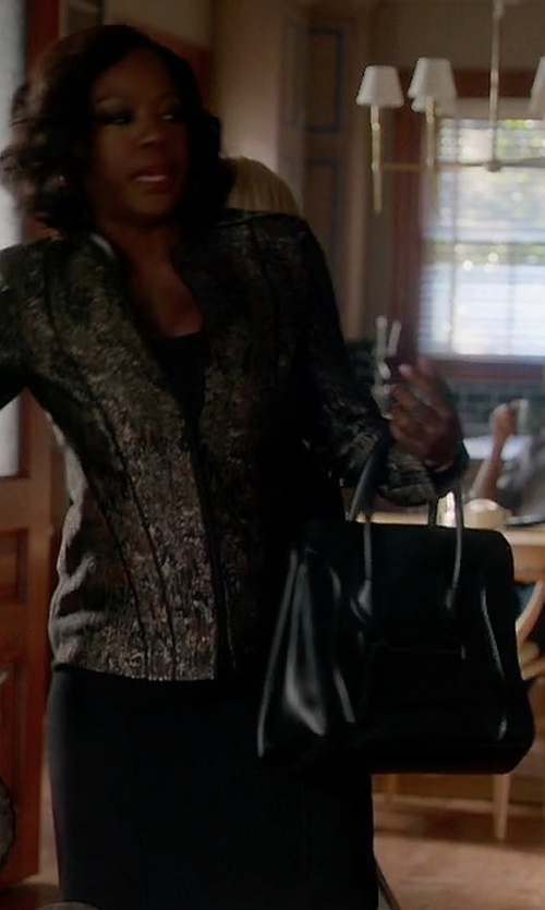 Viola Davis with Celine Mini Luggage Handbag in How To Get Away With Murder