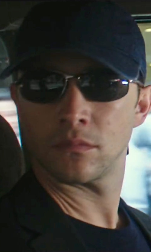 Joseph Gordon-Levitt with Revo Polarized Wrap Sunglasses in Snowden