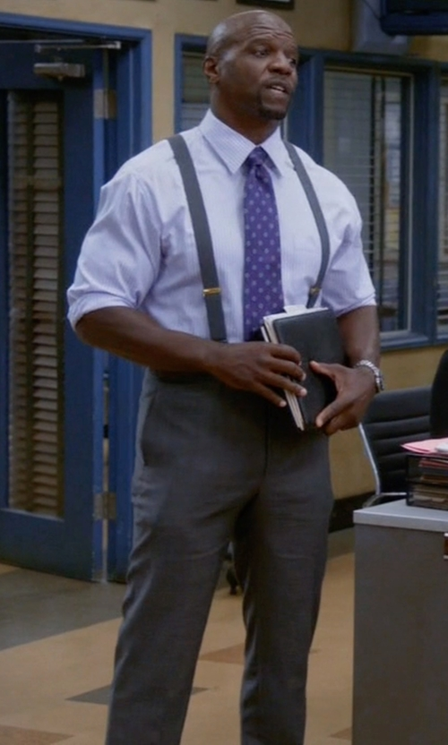 Terry Crews with Futuro Casual Chino Pants in Brooklyn Nine-Nine