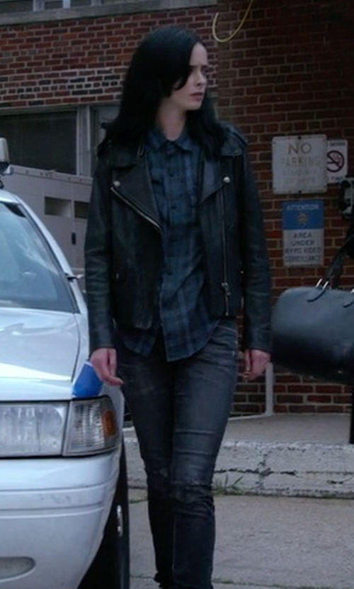 Krysten Ritter with BDG Waterfall Tunic Top in Jessica Jones
