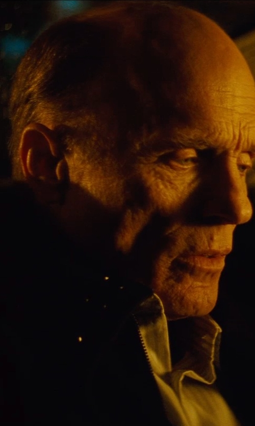 Ed Harris with 3.1 Phillip Lim Trompe L'oeil Bomber Jacket in Run All Night