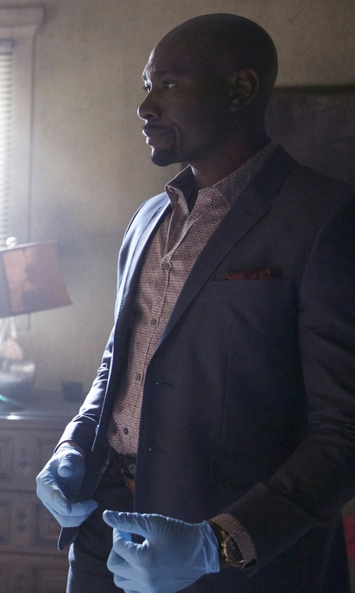 Morris Chestnut with Larsson & Jennings Lader Red Gold-Plated And Leather Watch in Rosewood