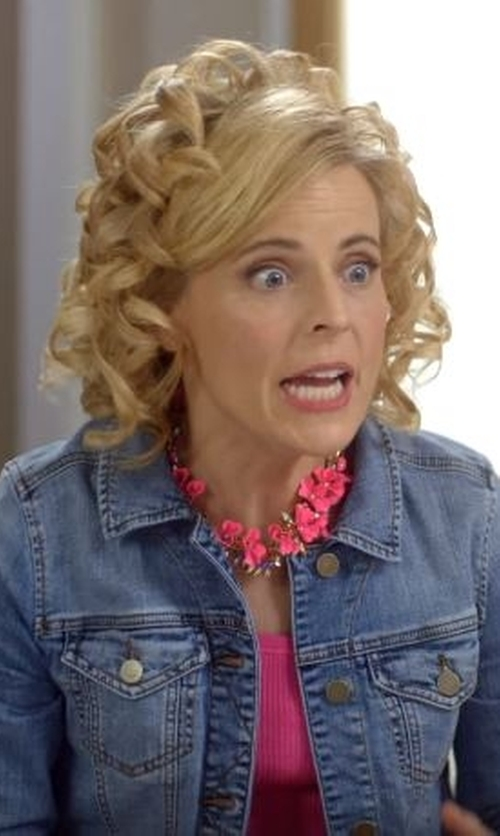 Maria Bamford with Kut From The Kloth Amelia Denim Jacket in Lady Dynamite
