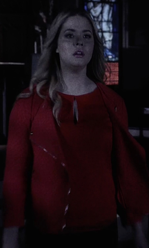 Sasha Pieterse with Sanctuary Textured Jacket in Pretty Little Liars
