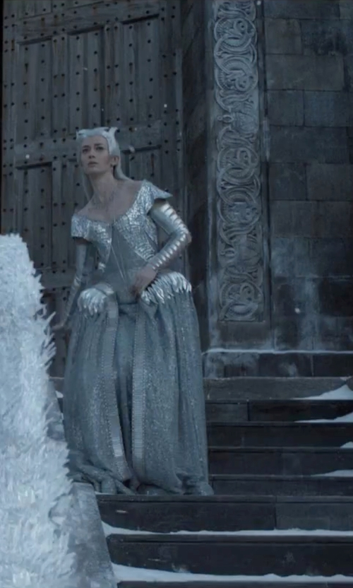 Emily Blunt with Colleen Atwood (Costume Designer) Custom Made 'Freya' Gown in The Huntsman: Winter's War