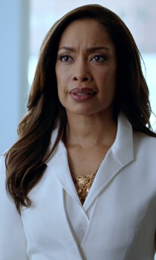 Gina Torres with Ben-Amun Dreamcatcher Statement Necklace in Suits