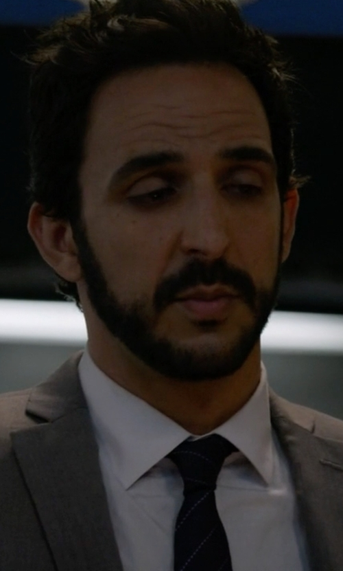 Amir Arison with Richard James Cotton-Poplin Shirt in The Blacklist