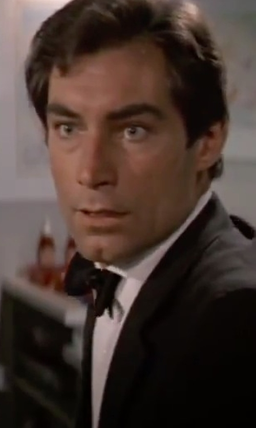 Timothy Dalton with Theory Dover Tuxedo Shirt in The Living Daylights