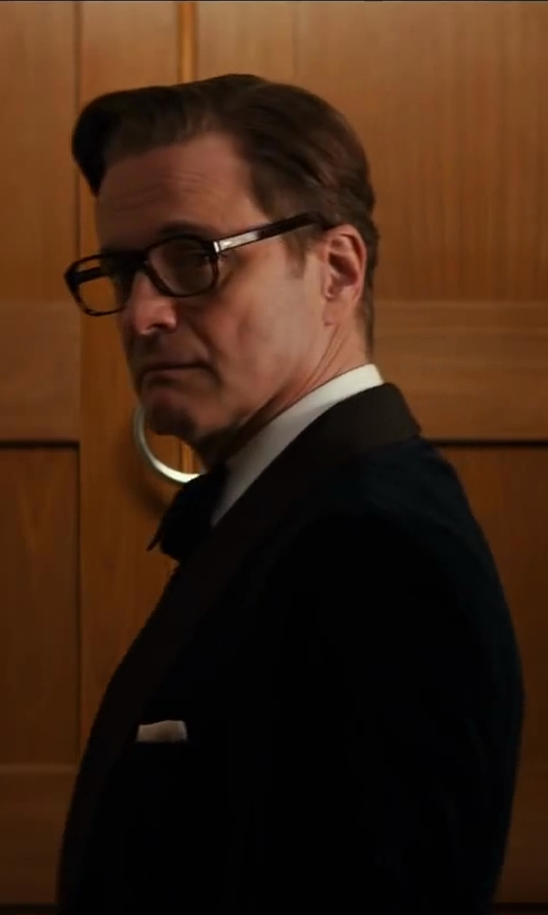 Colin Firth with Turnbull & Asser Silk Bow Tie in Kingsman: The Secret Service