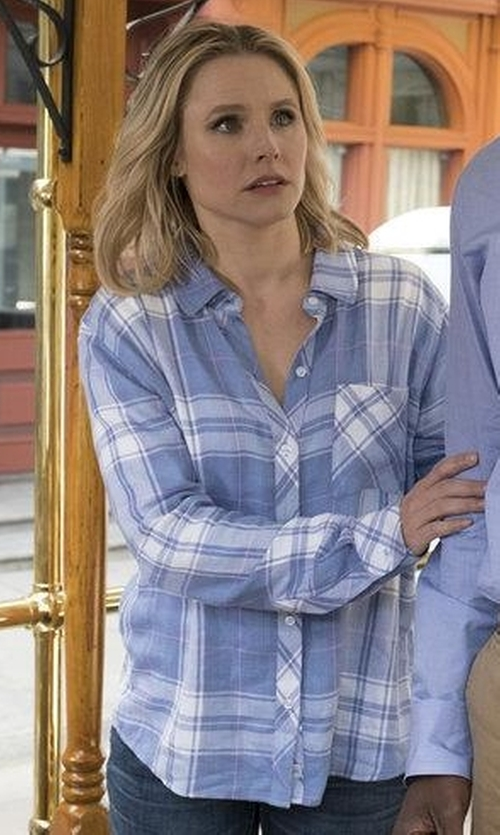 Kristen Bell with Rails Hunter Shirt in The Good Place