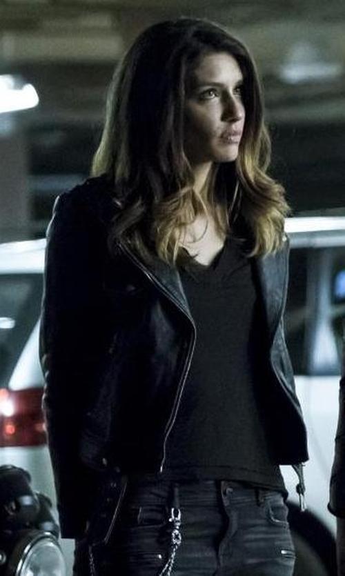 Juliana Harkavy with La Made Quin Jacket in Arrow