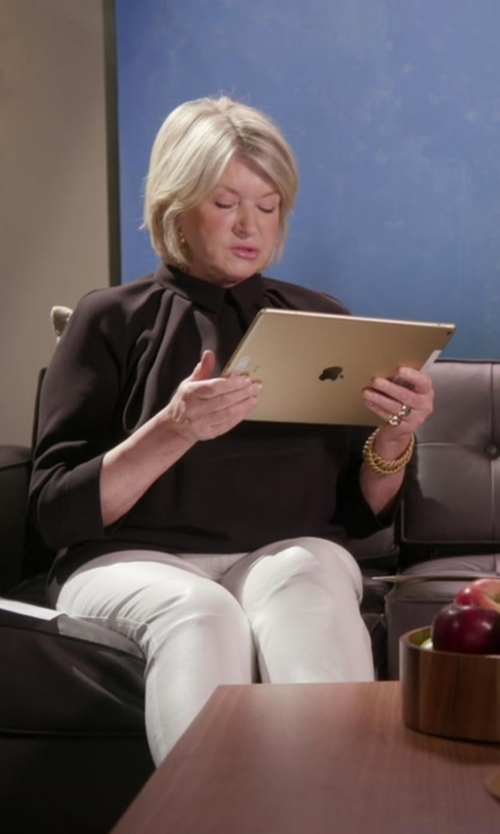 Martha Stewart with Zelda Finnegan Woven Blouse in Chelsea