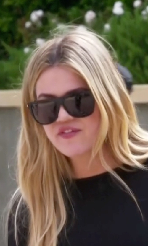 Khloe Kardashian with Saint Laurent SL1 Oversize Flattop Sunglasses in Keeping Up With The Kardashians