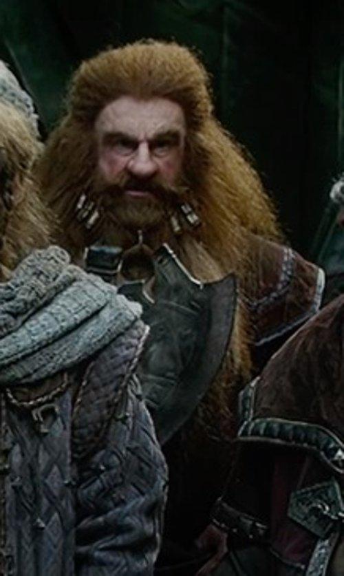 Peter Hambleton with Ann Maskrey & Bob Buck (Costume Designer) Custom Made Gloin Costume in The Hobbit: The Battle of The Five Armies