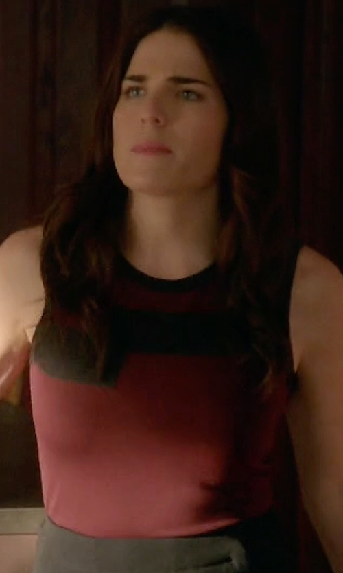 Karla Souza with Alpha Studio Sleeveless  Top in How To Get Away With Murder