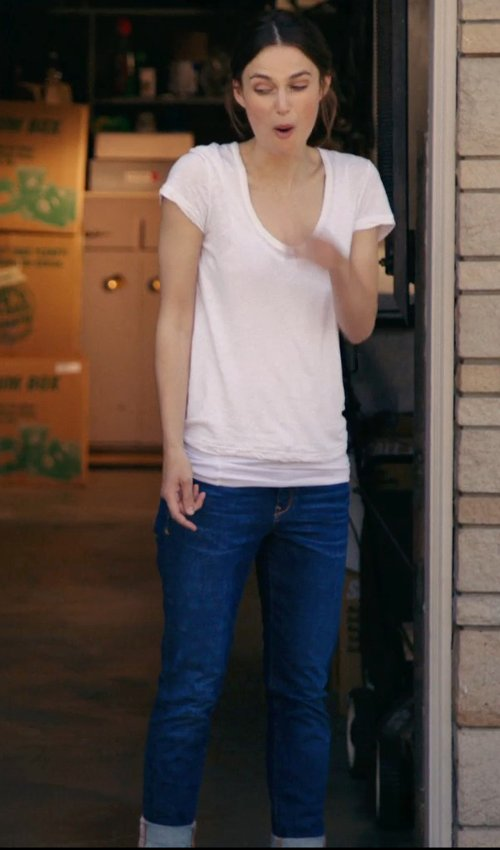 Keira Knightley with Frame Denim 'Le Garcon' Boyfriend Jeans in Laggies