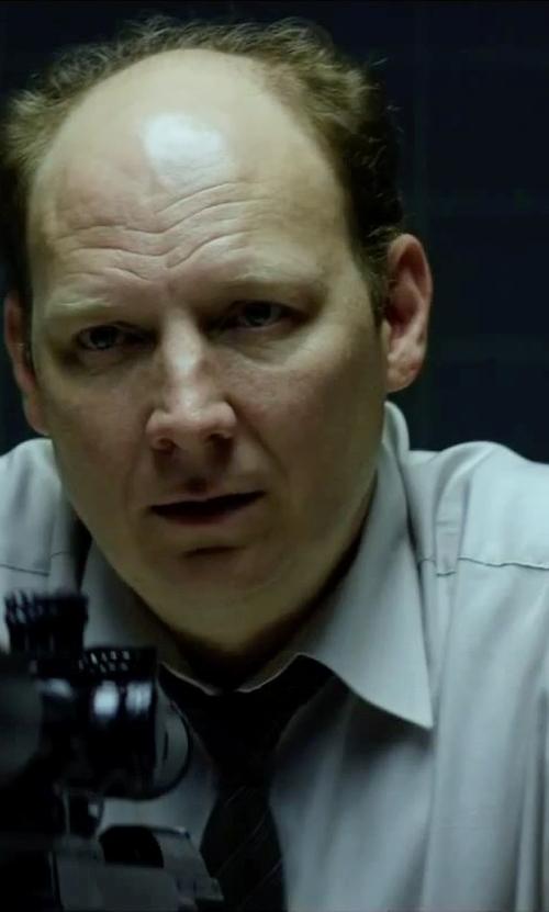Dan Bakkedahl with Canali Stripe Silk Tie in Hitman: Agent 47
