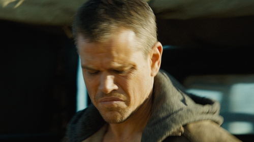 Matt Damon with Uniqlo Full-Zip Hoodie Sweater in Jason Bourne
