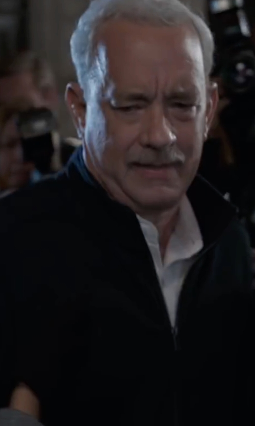 Tom Hanks with Burberry Brit  Bradford Lightweight Blouson Jacket in Sully