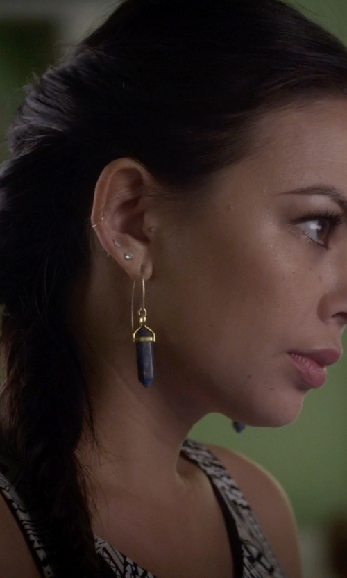 Janel Parrish with Fred Meyer Jewelers Diamond Stud Earrings in Pretty Little Liars
