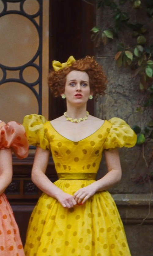 Sophie McShera with EmilyRose Couture Large Solid Bright Yellow Hair Bow in Cinderella