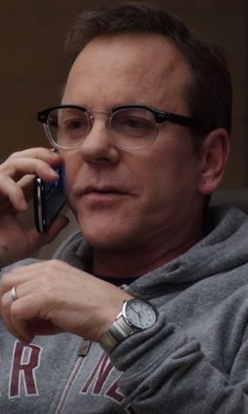 Kiefer Sutherland with Paul Smith Silver 'Ma' Watch in Designated Survivor