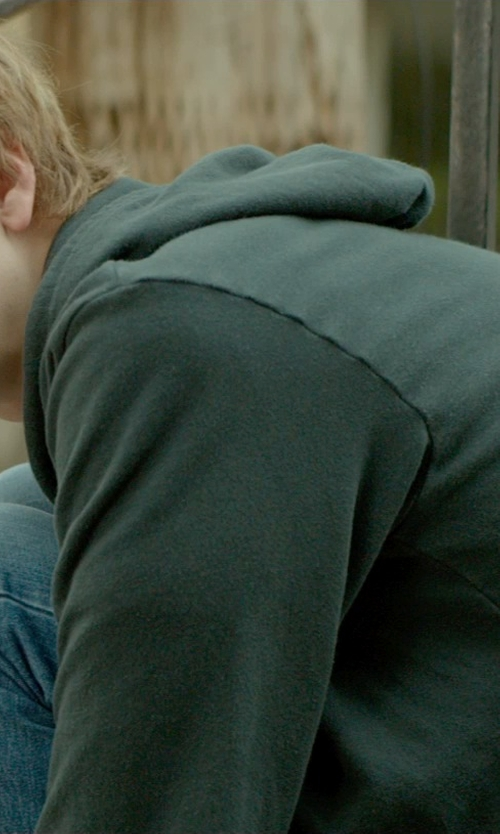 Thomas Mann with American Apparel Flex Hoodie in Me and Earl and the Dying Girl